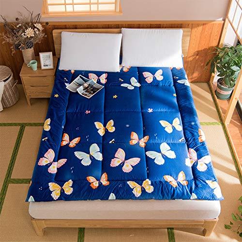 LZYCL Baumwoll-Matratzen-Bezug für Queen-Size, Gesteppte Matratze, Dicke Tatami-Bodenmatte, faltbar, Japanisches Bett 100x200cm(39x79inch) C - Baumwolle Queen-size-matratze