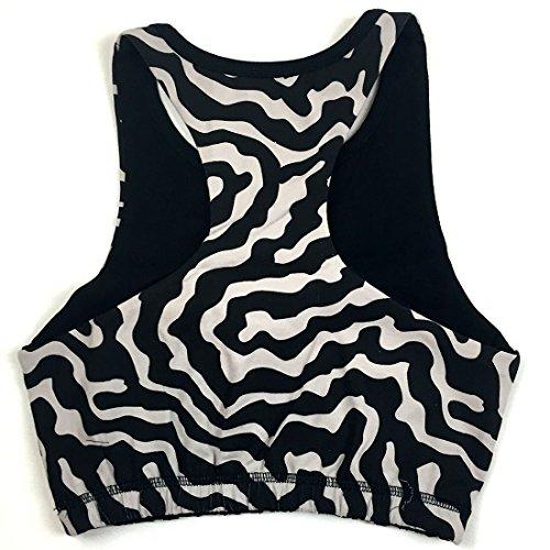 Prancing Leopard Damen Sport BH WAPITI aus Bio Baumwolle, Bedruckter Büstenhalter, fitness-BH Animal Print