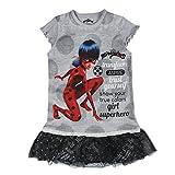 Miraculous - Vestido - para niña - 22-2674 [Gris - 3-4 años - 98-104 cm]