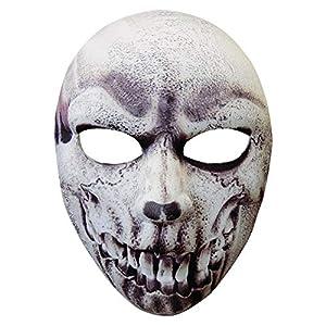 WIDMANN Máscara Tela media cara del cráneo de Halloween Carnaval Fiestas Trajes