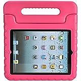 iPad 2/3/4 Funda para Niños – Soweiek Durable Anti-golpes Protector Soporte Caso Cover Case con Asas para Apple iPad 2 3 4 9.7 pulgadas Tablet, Rosa