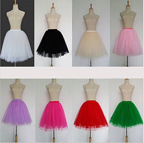 ... Cystyle Damen Tüllrock Prinzessin Kleider Knielang Petticoat  Ballettrock Unterrock Pettiskirt Swing One Size Blau 1