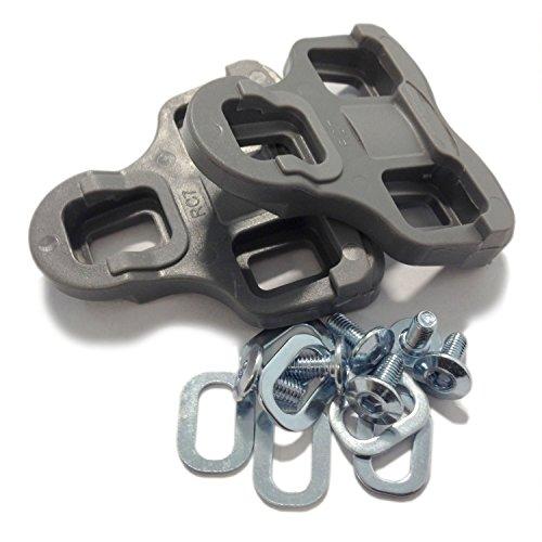 VeloChampion Tacchette per Look Keo Grip con flottaggio di 9 Gradi, Grigio - Pedal/Shoe Cleats