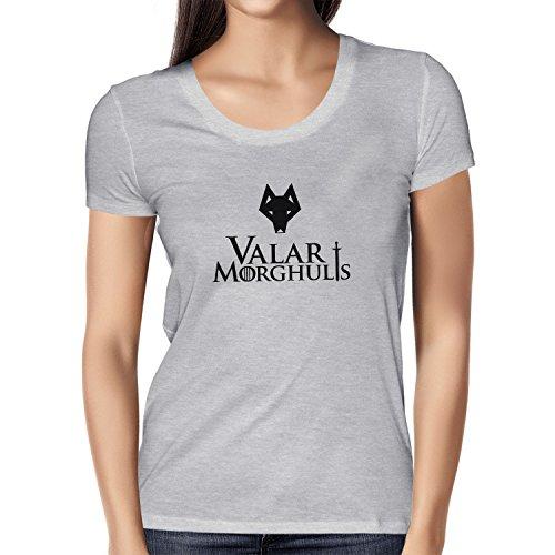 Texlab Got: Valar Morghulis - Damen T-Shirt Grau Meliert