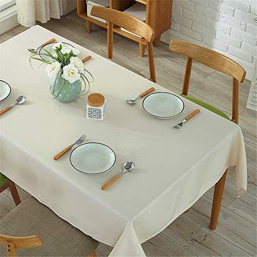 SONGHJ Klassische Cmall Fresh Cotton Side Tischdecke HomeTextile Tischdecken Rechteckige Staubschutzhülle B 110 × 140 cm - Gold-rechteckiger Teppich