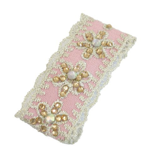 Light Pink Clip (DealMux Ladies Rhinestones Fabric Wrapped Hair Clip Light Pink)