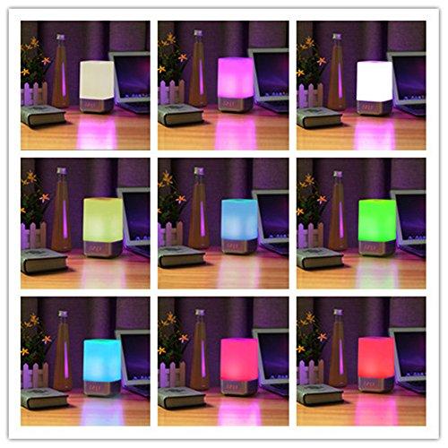 & Wake-Up Light,SOLMORE Lampada Touch Lampada da Comodini Simulazione Alba e 5 Suoni Naturali Multicolore Luce notturna Controlli Touch e Caricatore USB comprare on line