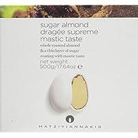 Hatziyiannakis Sugar Dragées with Almond Supreme Mastic Taste White Matte, 500 g