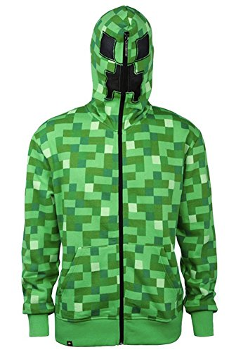 emium Adult Zip-Up Hoodie XX-Large (Minecraft Creeper Kostüme)