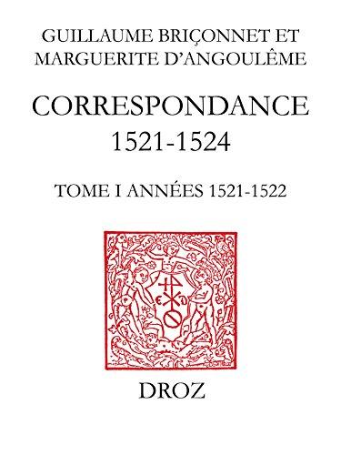 Livre Correspondance (1521-1524): TomeI, Années 1521-1522 pdf