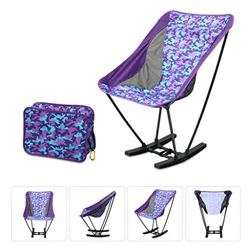 LLKOZZ Tragbare Freizeit schaukelstuhl leichte Falten Camping Stuhl, 150 kg kapazität, for Outdoor Camping, Reise, Strand, Picknick, Festival, wandern Campingstuhl (Color : B)