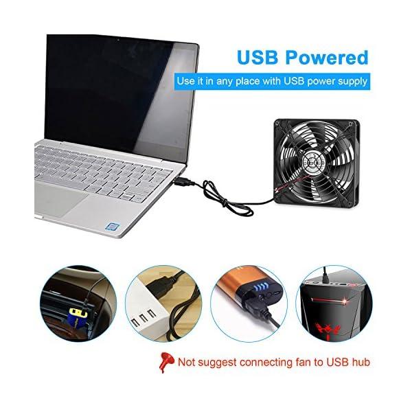 ELUTENG USB Ventilador de Escritorio 140mm Radiador de