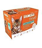 IAMS Delights Land Collection in Sauce - Hochwertiges Katzenfutter nass für Katzen ab 1 Jahr in verschiedenen Geschmackssorten - 12 x 85g Frischebeutel