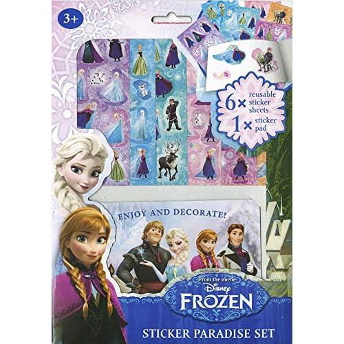 Set cuaderno y pegatinas. Frozen 1