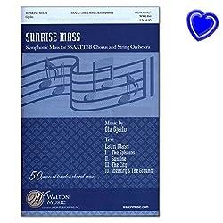 Sunrise Mass - Symphonic Mass for SSAATTBB Chorus and String Orchestra von Ola Gjeilo - Noten mit bunter herzförmiger Notenklammer