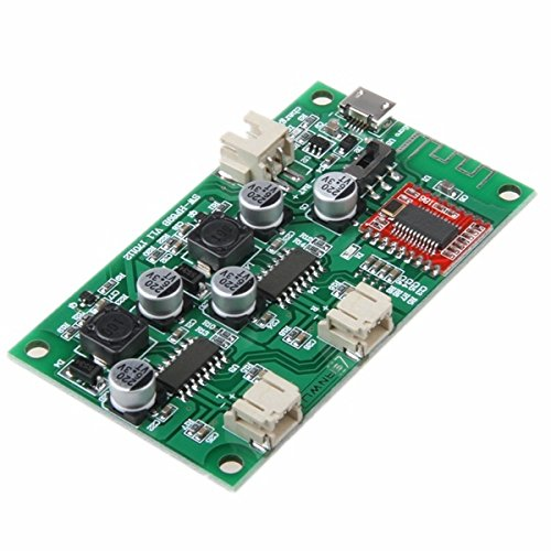 Ils - HF69B 6W+6W Dual Channel Stereo Bluetooth Speaker Amplifier Board Power by DC 5V or 3.7V Lithium Battery with Power Charging Management -