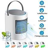 yjfgkk Mobile Klimageräte, Mini Persönliche Klimaanlage, 4 in 1 Luftkühler Luftreiniger Luftbefeuchtung Ventilator, 3 Leistun