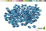 100 Dekosteine Diamanten 12mm ( dunkel blau / navy 370 ) // Deko-Steine Diamanten 1,2 cm Streudeko Tischdeko Steine Diamonds Kristall Hochzeit Streuteile