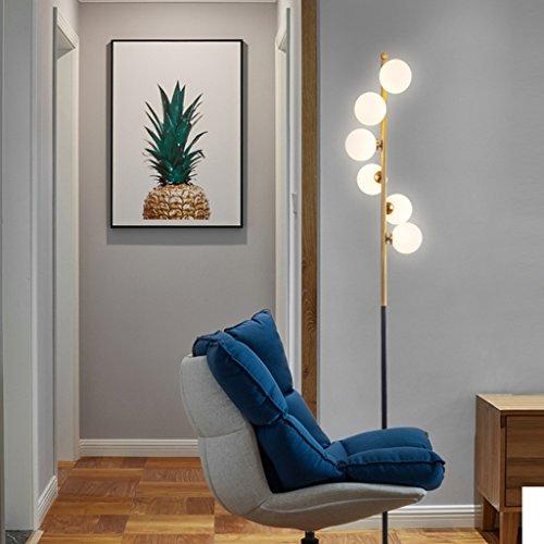 $lampe sur pied Lampadaire, Salon Chambre Moderne Étude Fer Art Ball Stand Lampe Lampe de Table G4 Source de Lumière (Couleur : Lumière blanche)