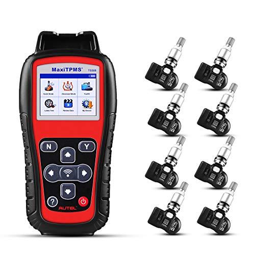Autel MaxiSys TS508 OBD2 Diagnosegerät Scanner Diagnosewerkzeug TPMS sensor Kit mit 8 Autel MX-Sensoren für alle Fahrzeuge, Deutsch verfügbar(bitte kontaktieren Sie uns zurück mit dem Modell S / N)