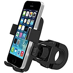 CAOLATOR Support Vélo du Guidon,Support Vélo du Guidon, Compatible avec iPhone SE/7/6S/5S/5/4S, Galaxy S5/S4/S3/S2,GPS,Smartphone