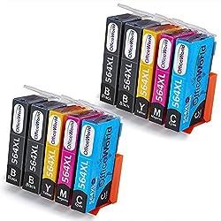 Office World 4 Color HP Printer Ink 564 XL 10 Packs, Compatible with HP Photosmart 5520 6520 7520 5510 6510 7510 7525 B8550 C6380 D7560 Premium C309A C410 Officejet 4620 Deskjet 3520