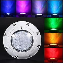 RGB 36W Lampe de Piscine Lumière LED 12V DC/AC, contrôle par télécommande, Etanche IP68 Éclairage sous-marin pour Piscine Fish Tank Fontaine Eau Rocaille Herbe Terre
