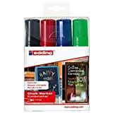 edding 4090-4999 Fenster-/Kreidemarker, 4-15mm, 4er-Set, sortiert