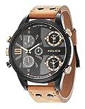 Police HerrenArmbanduhr Chronograph Quarz Leder PL.14374JSB/02