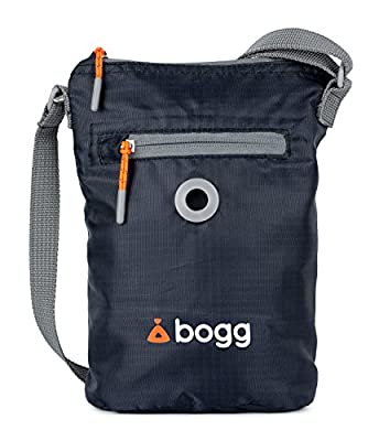 Bogg - Dog poo bag dispenser and waste carrier. Durable, modern, ripstop fabric. Rainproof, lightweight and foldaway. Holder Grey