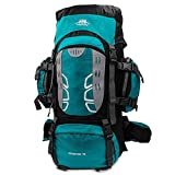 Mooedcoe 75L Mochila Senderismo Tactica Mochila Hombre Impermeable de Trekking Viaje Montaña Acampada Escalada (Verde)