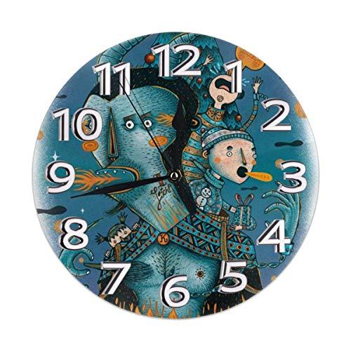 Kids Kostüm Husky - Zhgrong Krampus Kostüm Kids Weihnachten Silent Non Ticking Wanduhr Round Classic Decorative Clock