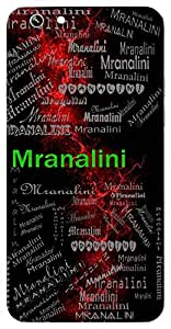 Mranalini (A Collection Of Lotus) Name & Sign Printed All over customize & Personalized!! Protective back cover for your Smart Phone : Xiaomi Redmi Note 3