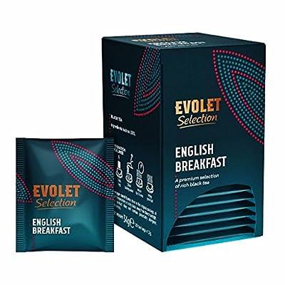 EVOLET Selection, Original English Breakfast Tea (Thé de petit déjeuner anglais), Sélection Premium De Thé Noir Riche, Thé Noir 100% Pur, Énergique Et Aromatique (Lot de 2, Total 40 Sachets de Thé)