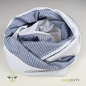 Loop-Schal Damen – blau grau wei