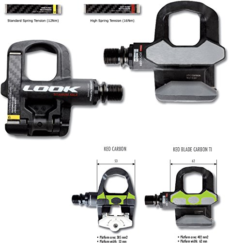 Look Rennradpedale Pedale KéO Blade Carbon Ti 10 (Ausführung: 12 Nm)
