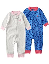 Pack de 2 Pijama para Bebé, Manga Larga Mameluco Pelele Mono Body Trajes
