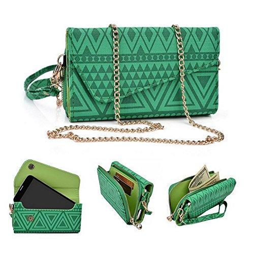 Kroo Pochette/étui style tribal urbain pour Samsung Galaxy E5/A5Duos Multicolore - vert Multicolore - vert