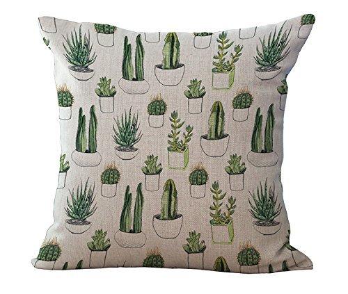 retro-cactus-plants-soft-cotton-linen-pillowcase-cushion-cover-home-sofa-decor18x18