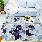 SESO UK Nordic Geometric moderne Teppich weichen bequemen rutschfesten großen Teppich für Schlafzimmer Wohnzimmer Haushalt Dekoration Blended Dicke-9mm (größe : 140X200cm)