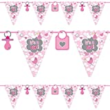 Folat Wimpelkette * It's A Girl * für eine Baby-Party zur Geburt von Einem M