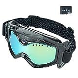Wiseup 8GB 1280x720p HD Action caméra Lunettes Vidéo Ski Lunettes Eyewear DV 135 Degrés Grand Voir...