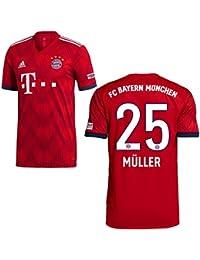 fe79b145a53689 Fan sport24 Adidas FC Bayern München Maglia 2018 2019 Giocatore con Nome,  Müller ...