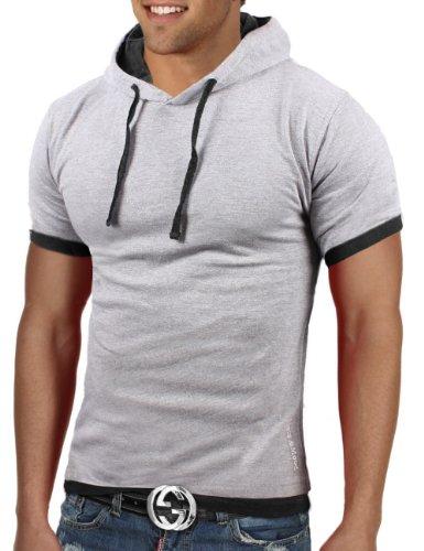 Bents & Mood Herren Poloshirt Slim Fit T-Shirt Hoodie BM12 Hellgrau