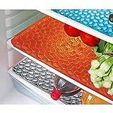 #5: Yellow Weaves™ Refrigerator Drawer Mat / Fridge Mat In Thick Material Set Of 6 Pcs (Multi)