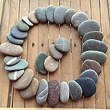 Pequeñas piedras de playa para manualidades, 25 piezas de la costa irlandesa entre 1 y 2 cm por rsteinborn