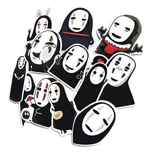 Yovvin Le Voyage de Chihiro Spirited Away No Face Man Kaonashi Auto Aufkleber Vinyl Aufkleber für Handy, MacBook, Laptop, Auto, Boote, Windows und Mehr(24 Stück) (Fall Pro Men Macbook)