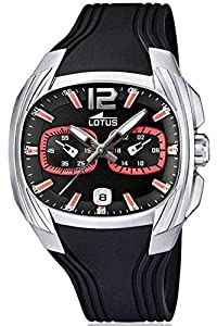 Lotus 15756/6 - Reloj analógico de Cuarzo para Hombre con Correa de plástico, Color Negro