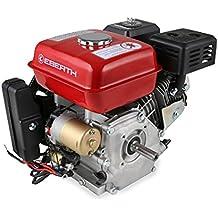 EBERTH Motor de gasolina 6,5 cv 1 cilindro con 4 ritmos con árbol de 19.5 mm arranque eléctrico