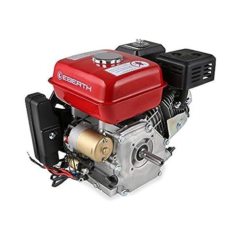 EBERTH 6,5 CV moteur à essence thermique 4 temps 1 cylindre onde 20mm demarreur electrique